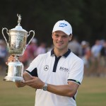 Martin Kaymer poses with the U.S. Open trophy (pHOTO: USGA/John Mummert)