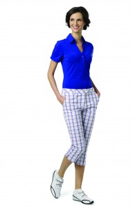 Fashion Solid Polo With Rouching