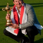 Graeme McDowell with the Ryder Cup Trophy (Photo courtesy of The Ryder Cup)