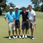 SGA Tour Ambassador Andy Lee with his foursome at Kingston Heath
