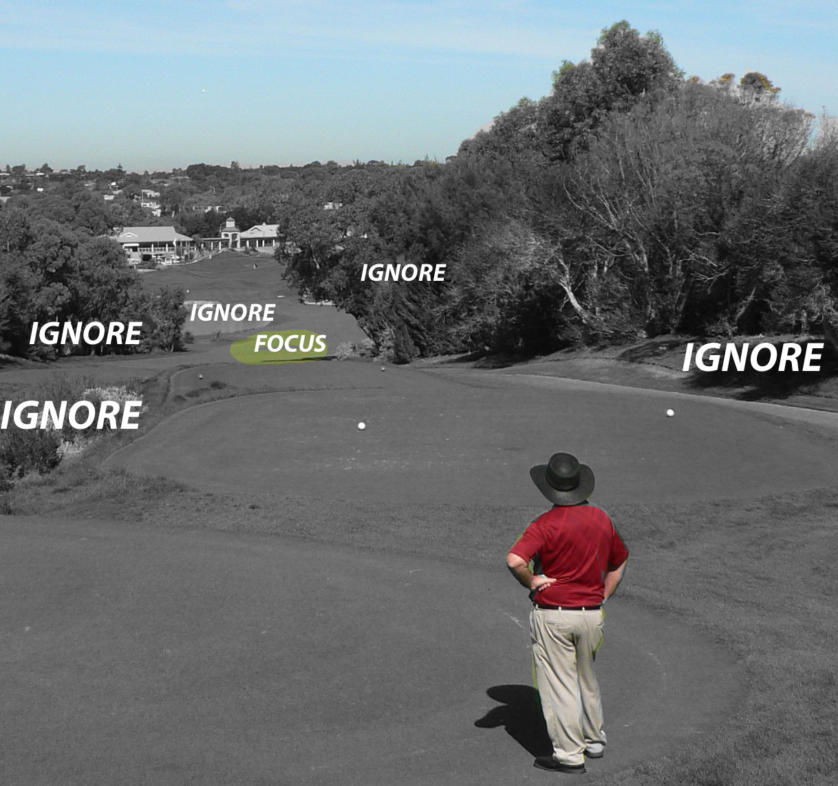 Narrow your FOCUS for better tee shots