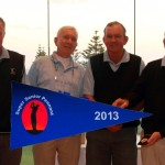 2013 NSW Super Senior Pennant winners – The Lakes GC. Left to right: Bart Doff, Roy Vandersluis, Bruce Johnson, Bernie Moase, Jeff Coxon, Vince Clark, Murray Westwood, Geoff Everett.