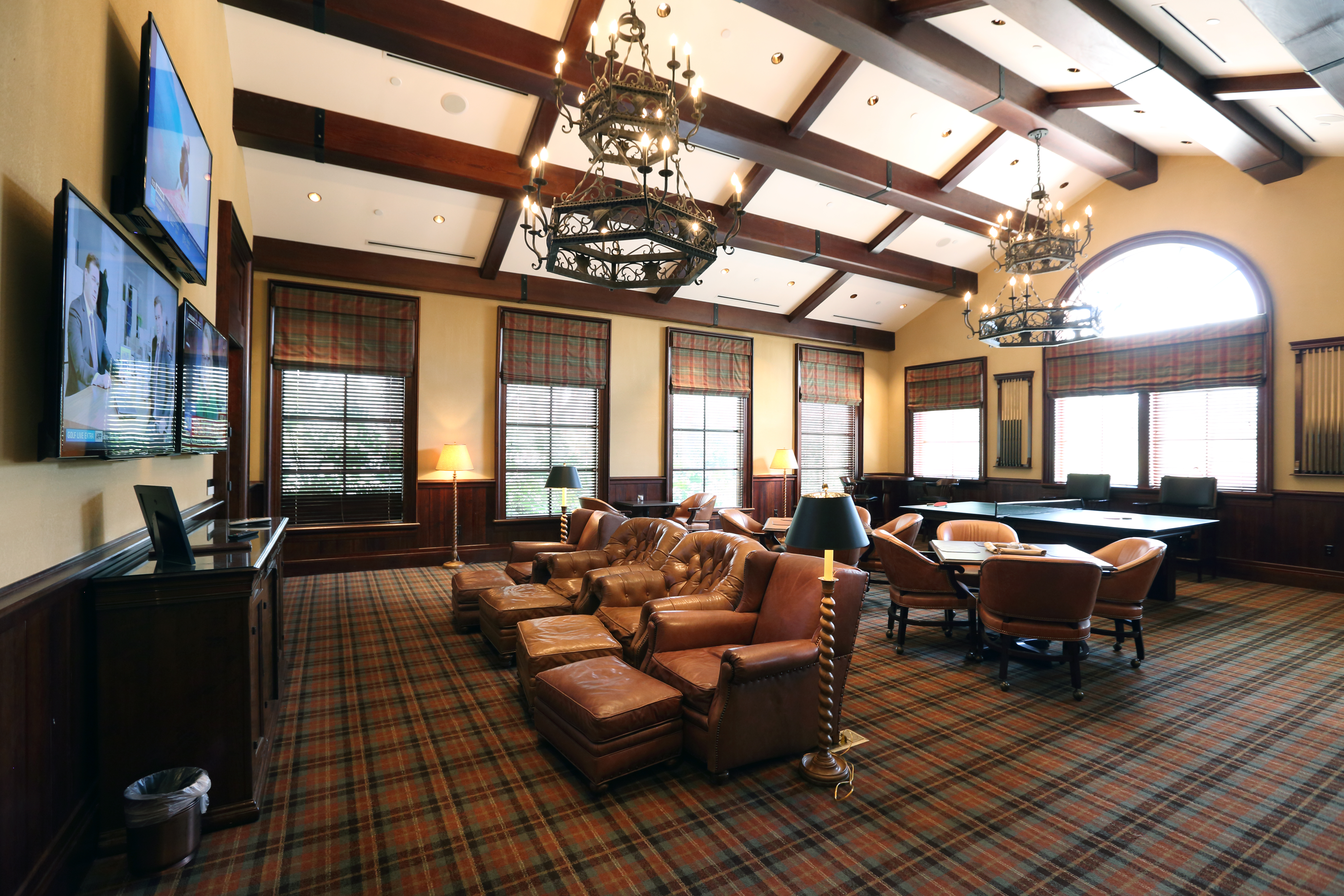Professional locker room lounge – TPC Sawgrass Clubhouse