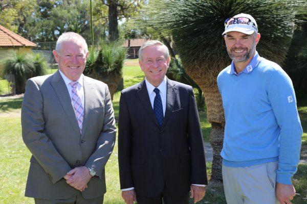 Brian Thorburn, The Hon. Colin Barnett and Michael Long