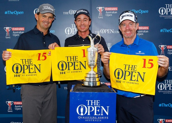 Greg Chalmers, Brett Rumford and Rod Pampling qualify for The Open . (Photo: Courtesy of The R&A)