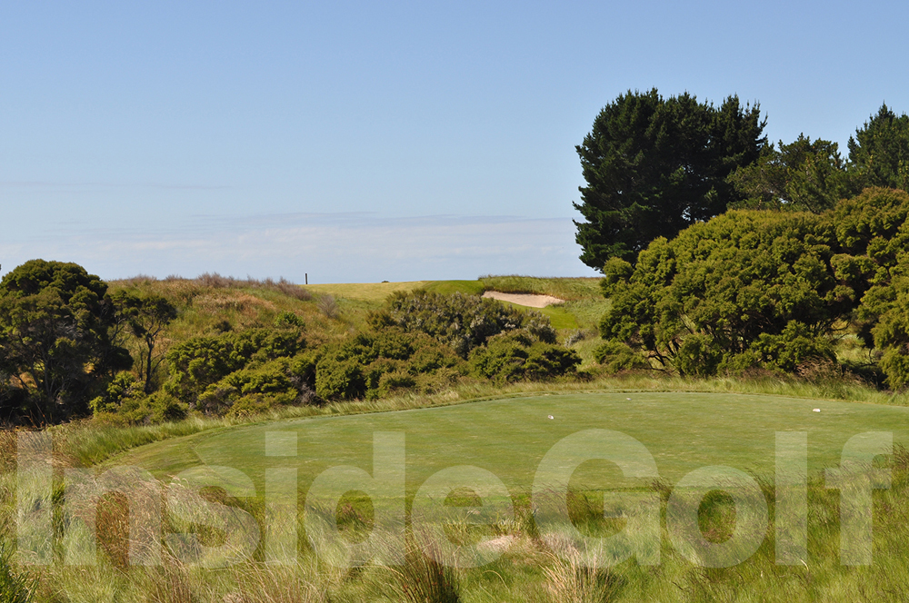 Cape Kidnappers 4th  tee