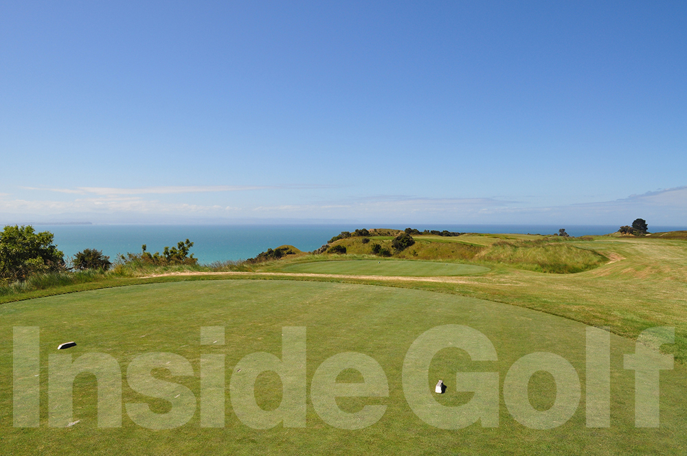 Cape Kidnappers 5th  tee