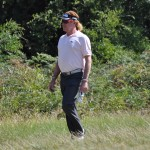 Miguel Angel Jimenez at Royal Melbourne during the World Cup