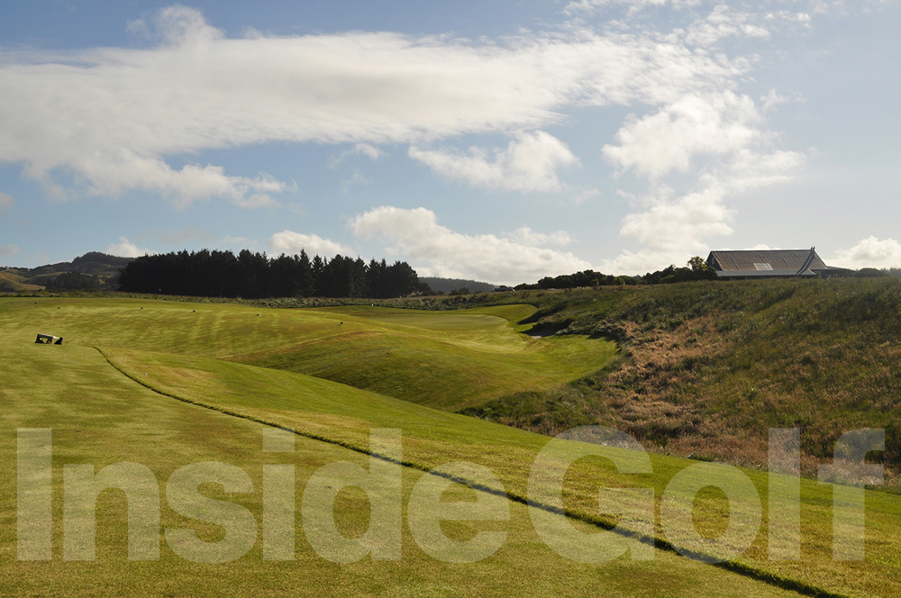 Cape Kidnappers 18th  tee