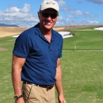 Greg Norman at the recently completed 17th hole of the new Eastern Golf Club, currently under construction in the Yarra Valley