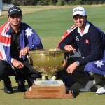World Cup Champions Adam Scott and Jason Day