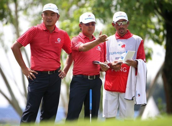 Danny Chia (left) and Nicholas Fung (Photo: Mark Dadswell/Asian Tour)