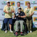 The victorious Australian team celebrates at the inaugural World Cup of Disabled Golf at Zebula Golf Estate and Spa; (photo: Tyrone Winfield)