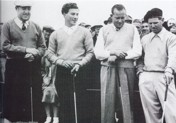 Four Australian greats - Bobby Locke, Peter Thomson, Ossie Pickworth and Norman von Nida. (Photo courtesy of Golf Australia)
