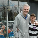 Andrew Gaze towering over The Coach