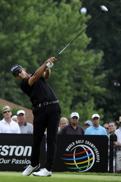 Adam Scott during the final round of the World Golf Championships-Bridgestone Invitational at Firestone Country Club in 2011 (Photo by Stan Badz/PGA TOUR)