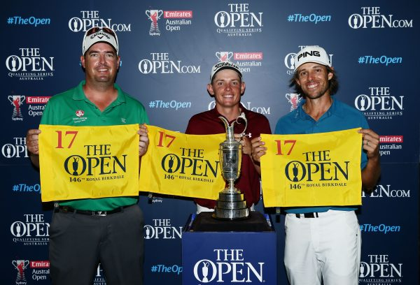 Australians Ashley Hall, Cameron Smith and Aaron Baddeley qualify for The 146th Open at Royal Birkdale at the Emirates Australian Open (Photo: R&A)