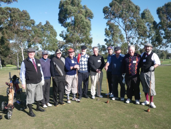 Hickory Heroes at Yarra Yarra: Cliff George, Garry Powerlett, Max Findlay, Paul Burgess, Tim Groves, Tony Rule, Chris Vogt, Bill Young, Neil Walker, Richard Fellner.