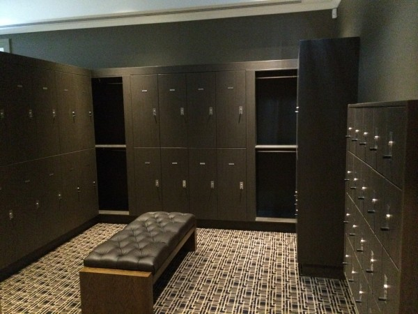 One section of  the extensive Mens lockers