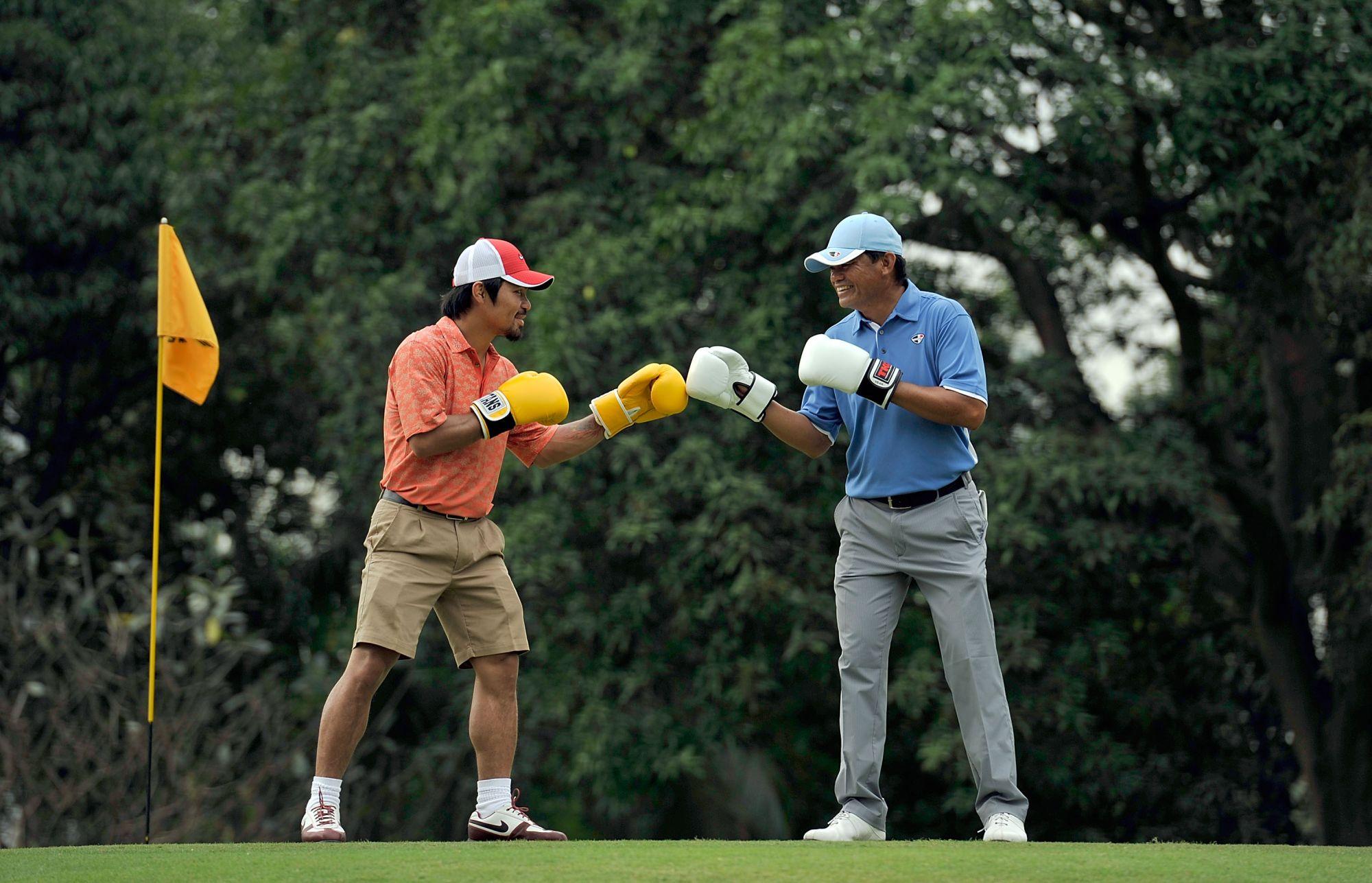 IPO Manny Pacquiao and Frankie Minoza (right)