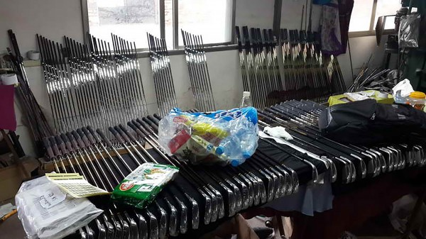 A recent raid in China netted over 62,000 counterfeit golf products.