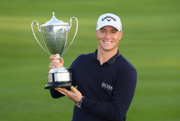 Alex Noren with the British Masters trophy