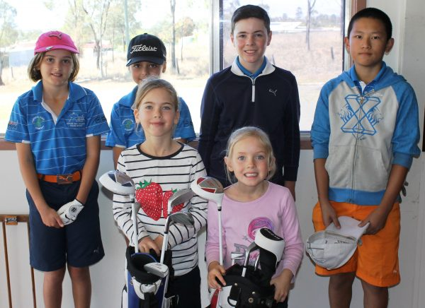 WE LOVE GOLF: This enthusiastic group of juniors played in the Toogoolawah Junior Classic.