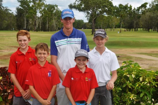 Central Queensland juniors (left to right) Luke Cumberledge, Jayden Gardner, Ben Swaffield, Brad Cumberledge and Quinn Stover.