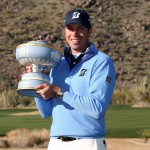 Matt Kuchar with the WGC Trophy (©Getty Images)