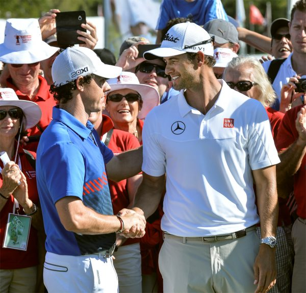 Adam Scott and Rory McIlroy (Photo: Golf Australia)