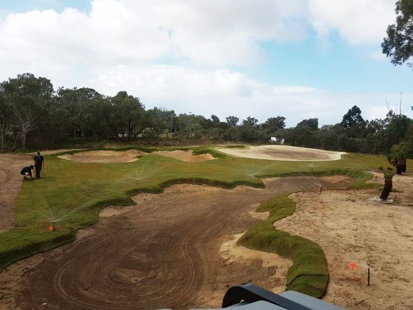 The new 19th hole is taking shape at Mt Lawley Golf Club.