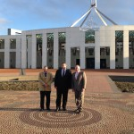 Peter O'Malley, Stephen Pitt and Brian Thorburn at Parliament House