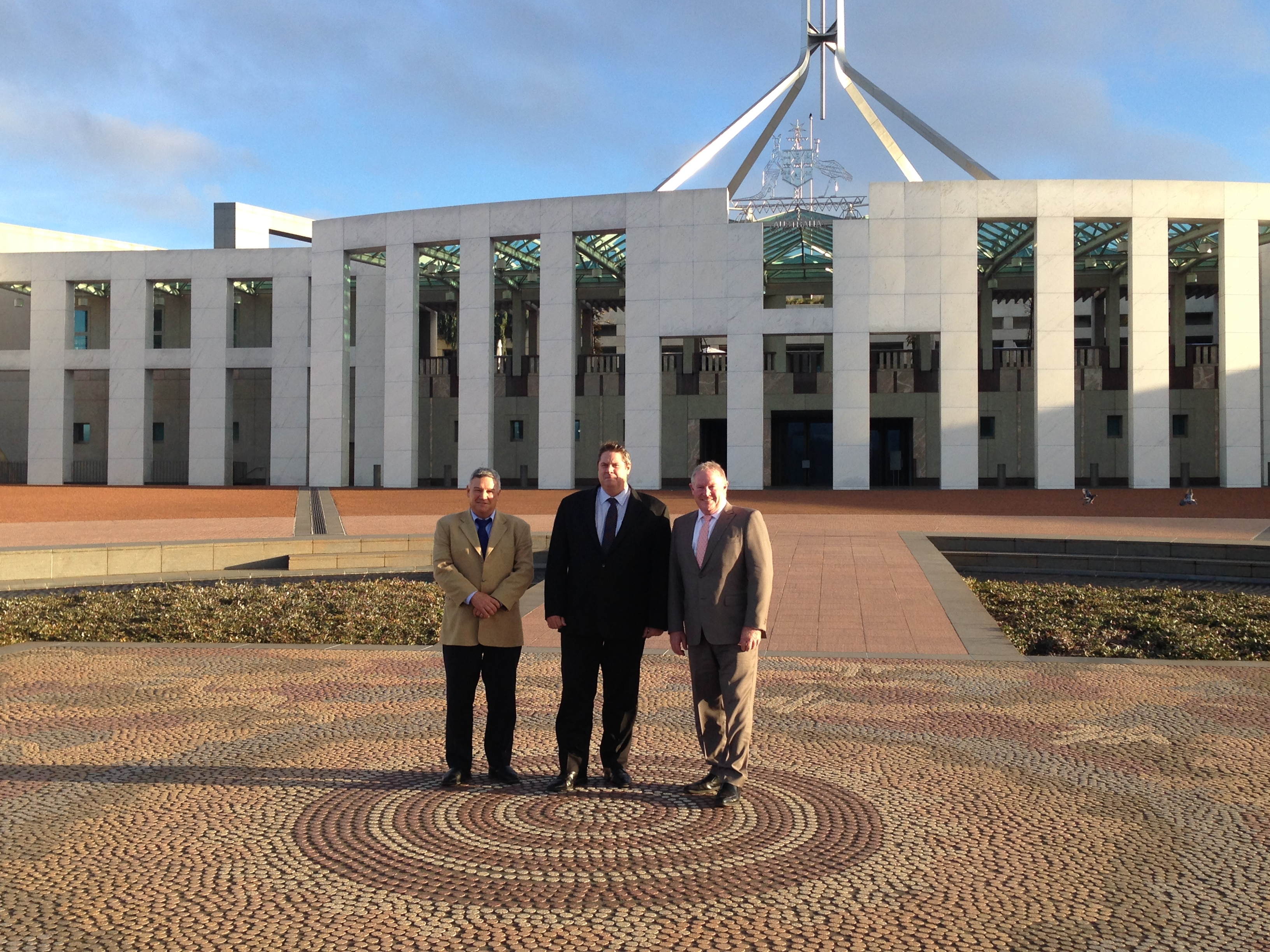 O'Malley Pitt and Thorburn at Parliament House