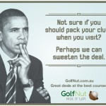 Will Obama play golf in Melbourne?