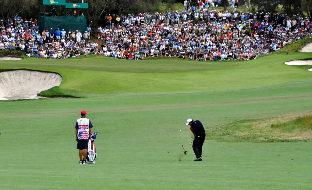 Phil Mickelson during The Presidents Cup at Royal Melbourne, 2011