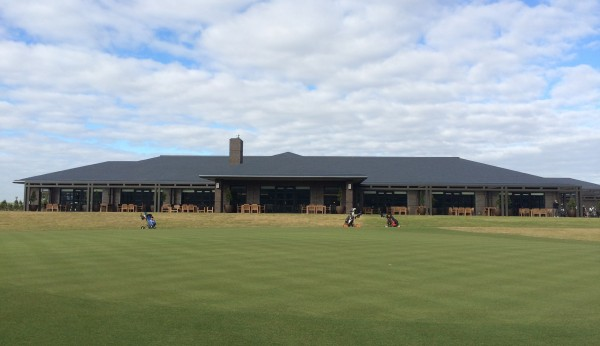 Clubhouse and practice putting green