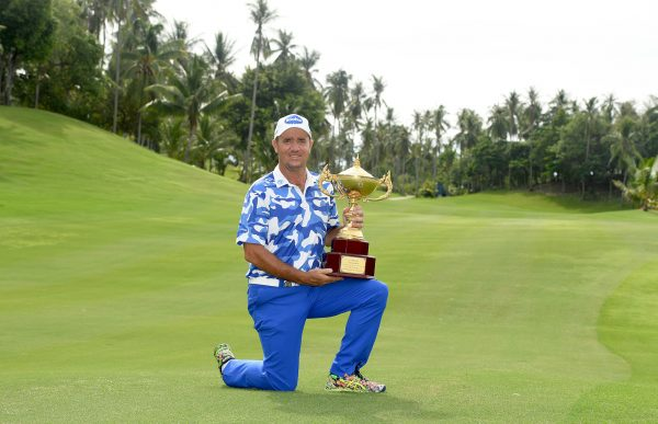 Scott Hend with the Queen's Cup Trophy