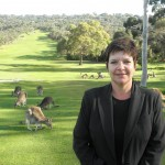 Kangaroos are a major tourist attraction at Anglesea Golf Club, says general manager Rachel Kane