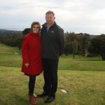 Rosebud Park & Recreation Chairperson Elaine Bertotto and Golf Services Management Director Ian Denny