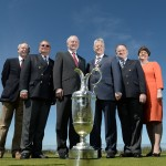 Caption: (Left to right) Simon Rankin, Captain Royal Portrush; Peter Unsworth, Chairman of The R&A Championship Committee; Deputy First Minister Martin McGuinness MLA; First Minister the Rt. Hon. Peter D Robinson MLA; Peter Dawson, Chief Executive The R&A; Enterprise, Trade and Investment Minister, Arlene Foster. (Photo: R&A)