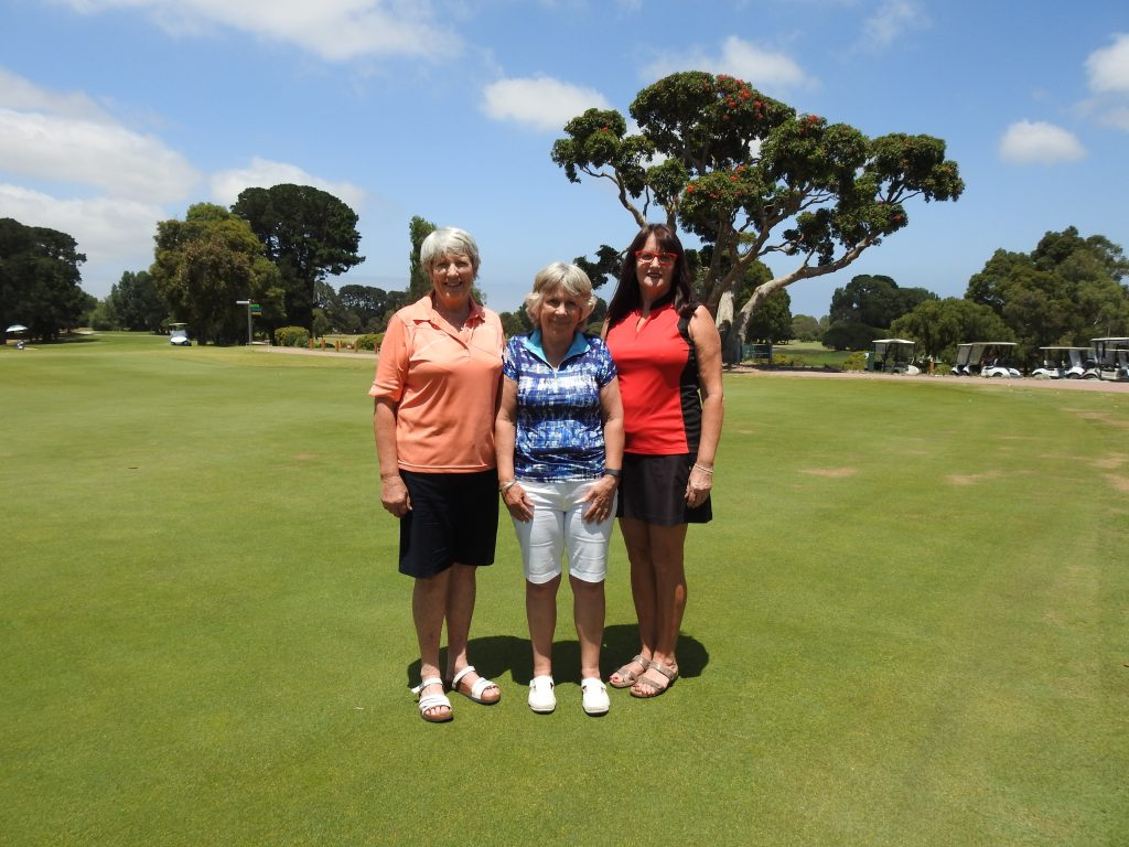 Rosebud Country Club Members Jan Brown, Narelle Colahan and guest Suzanne Lynch all 'Aced' the 14th Hole on the South Course.