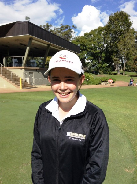 RECORD BREAKER: Darcy Hapgood, 14, has set a new course record at Toowoomba Golf Club.