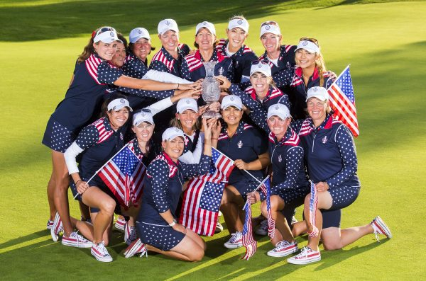 The victorious Team USA with the Trophy