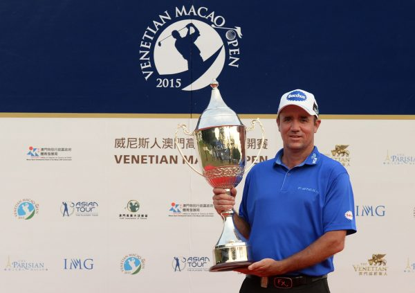 Scott Hend, winner of the Venetian Macao Open 2015 (Photo by Arep Kulal / Asian Tour)
