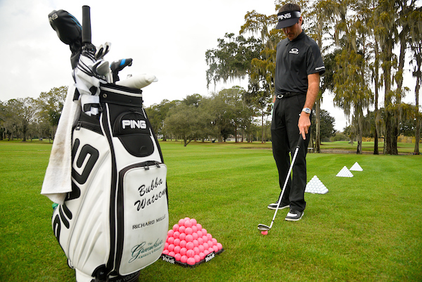 Photo shoot with PGA Tour player Bubba Watson at the Orlando Country Club for Volvik  in Orlando, Florida on Dec. 19, 2016. ©2016 Scott A. Miller