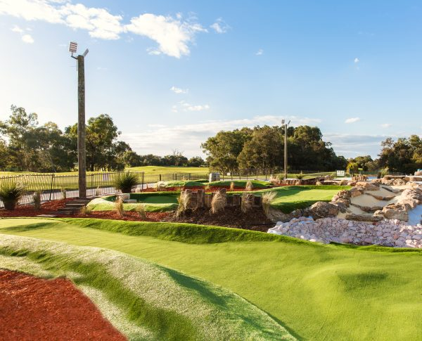 Construction is nearly finished on the 18-hole Mini Vines Golf