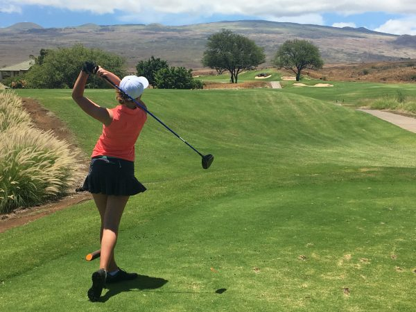 Ballarat Junior Sophie Byrne tees off