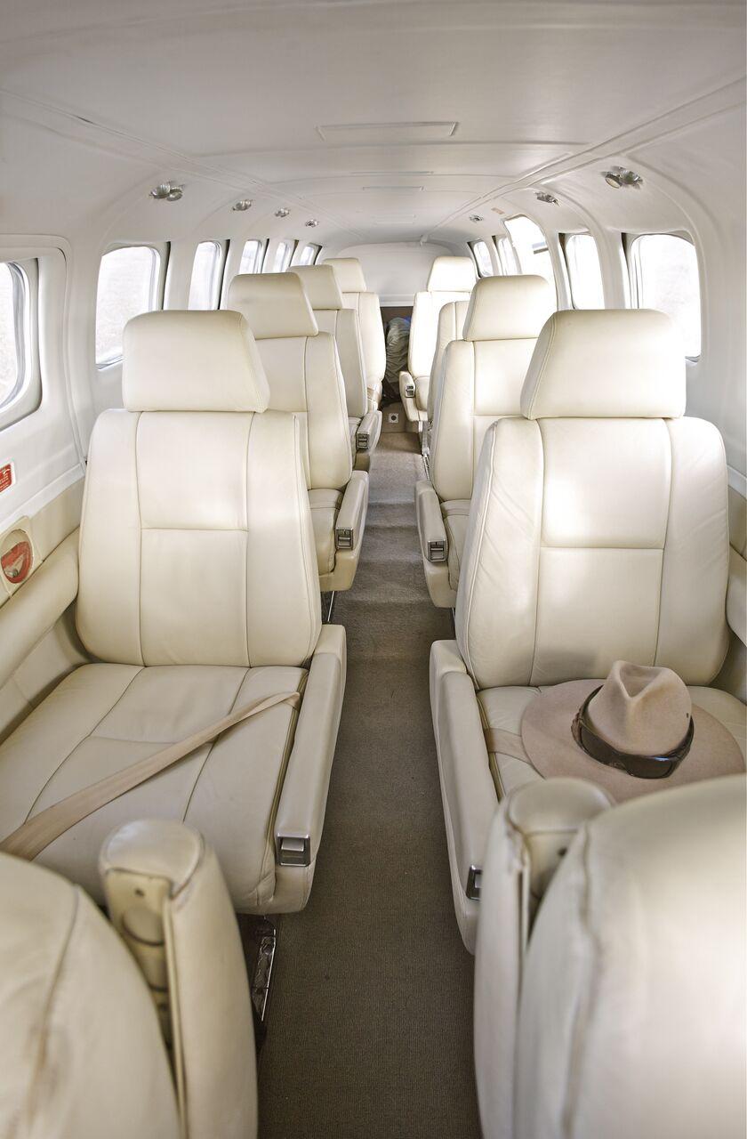 The interior of an Air Adventure plane