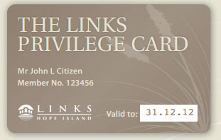 WIN: A Links Hope Island Privilege Card