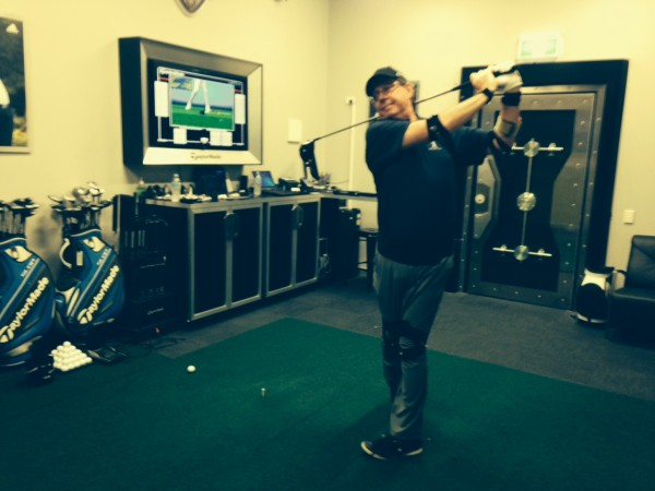 Larry Canning at the TaylorMade Performance Lab